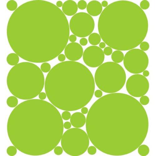 Stylin Green (Pea Green) Polka Dot Peel & Stick Wall Pops Stickers