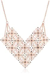 Jessica Simpson Baroque Bohemia Rose Gold Necklace, 16""