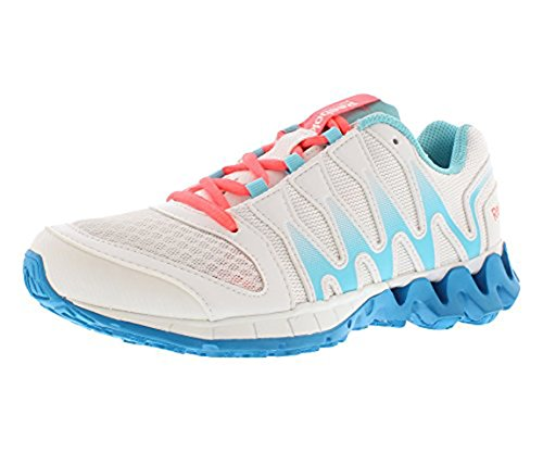 Reebok Women's Zigkick Tahoe Road II Running Shoe,White/Hydro Blue/Blue Bomb/Punch Pink,9 D US (Zigtech Shoes compare prices)