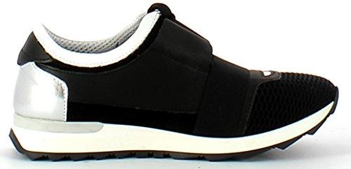 BA401 FRANCESCO MILANO Sneaker donna (40, Nero)