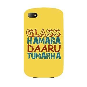 Skin4gadgets GLASS HAMARA DAARU TUMARAHA Phone Skin for BLACKBERRY Q10