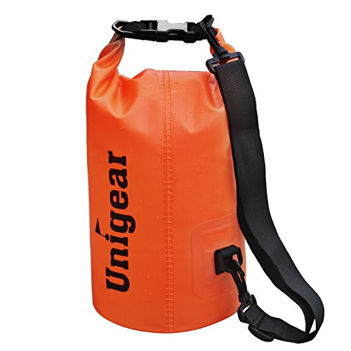 Dry Bag Sack, Waterproof Floating Dry Gear Bags for Boating, Kayaking, Fishing, Rafting, Swimming, Camping and Snowboarding (Orange, 20L) (Running A Electrical Company compare prices)