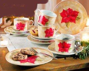 12 tlg kaffee service weihnachten porzellan. Black Bedroom Furniture Sets. Home Design Ideas