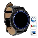 Chiworld Fashionable Blue LED Digital Touchscreen Watch with Soft Leather/ wirst watch LW-LW001029