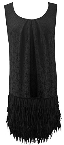 Black Lace 20's Flapper Girl Flare Retro Skater Cocktail Party Dress Sizes 14-26