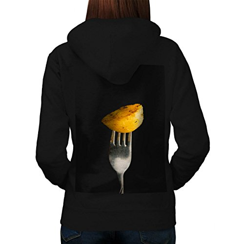 Roast Cooked Potatoe Photography Women NEW Black XL Hoodie Back | Wellcoda (Roast Potatoes Recipe compare prices)