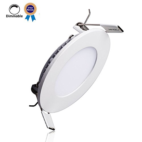 B-right 15W 7-inch Dimmable Ultra-thin Round LED Panel Light, 1100lm, 100W Incandescent Equivalent, 4000K Neutral White, LED Recessed Ceiling Lights for Home, Office, Commercial Lighting (Led Light Panel Ceiling compare prices)