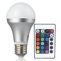 LE Remote Controlled Color Changing A19 5W LED Light Bulb 16 Color Choice E27 Medium Screw Base LED Bulbs
