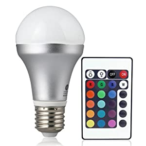Sale lighting ever remote controlled color changing a19 for Buyers choice light bulbs