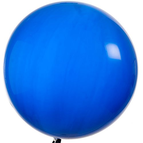 Qualatex Round Latex Giant Balloon (Pack of 2), 3', Sapphire Blue