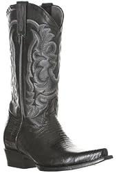 Los Altos Men's Teju Lizard and Cobra Leather Snip Toe Boots