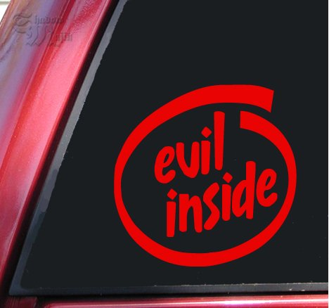 Evil Inside Vinyl Decal Sticker - Red
