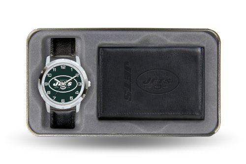 Nfl New York Jets Men'S Watch And Wallet Set
