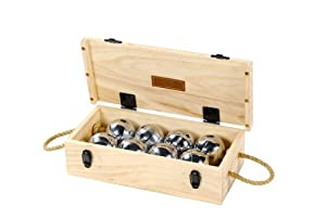 Boule Set of 8 - Luxury Wooden Box Petanque Set