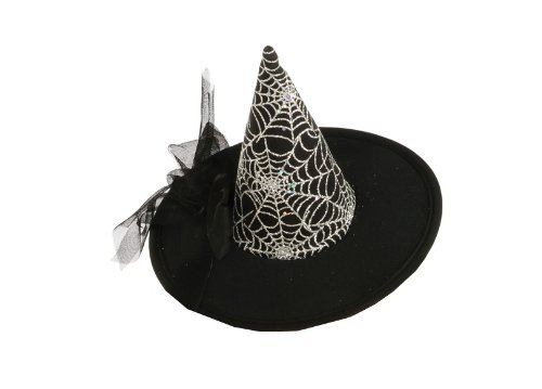 Rubie's Costume Womens Mini Spiderweb Witch Hat, Black, One Size - 1