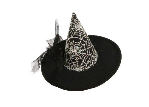 Rubie's Costume Womens Mini Spiderweb Witch Hat, Black, One Size