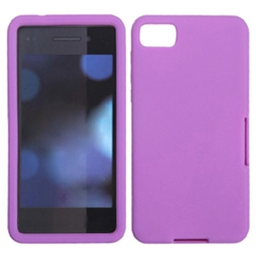 Asmyna Bb10Caskso056 Slim And Soft Durable Protective Case For Rim Blackberry Z10 - 1 Pack - Retail Packaging - Electric Purple
