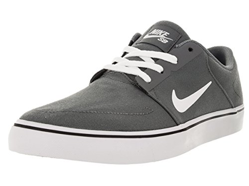 Nike Men's SB Portmore Cnvs Cool Grey/White/Black Skate Shoe 8 Men US (Cool Skate Shoes compare prices)