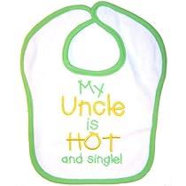 "Babies R Us ""Hot and Single"" Baby Bib (Green)"