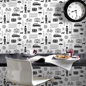 Fresco London Wallpaper - Black from New A-Brend
