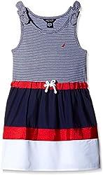 Nautica Kids Girls' Casual Dress (NCG0164Q417_Navy_5 - 6 years)