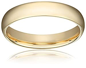 Men's 14k Yellow Gold Comfort-Fit Plain Wedding Band (5 mm), Size 9
