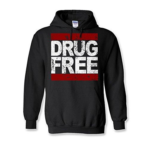 New Mens Frosty Tees Drug Free Logo White & Red Se Straight Edge Pun Rock Heavy Gildan Hoodie Black L (Straight Edge Hoodie compare prices)