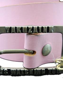 Yakuza Ink G-YA 312 Damen Leder Gürtel, Größe 80 cm, rosa