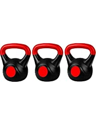 Proxsports Vinyl Kettlebell Set 12,14, & 16kg For Strength and Fitness Training Includes Free Kettlebell DVD