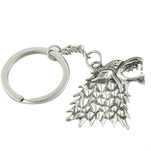 bluemoo-game-of-thrones-house-stark-head-3d-metal-keyring-keychain-silver