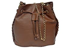 kreative beautiful ladies, girl, women potli cross body bag with golden chain, draw string and magnetic button.
