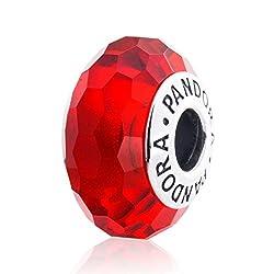 Pandora Silver Fascinating Red