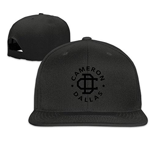 sunny-fish6hh-adjustable-cameron-dallas-logo-baseball-caps-hat-unisex-black
