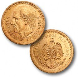 Gold Coin, Mexico 2 1/2 Peso (.0603 Oz Pure Gold)