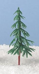 6 x Plastic Christmas Tree Cake Decorations 75mm - As Used by Nigella!