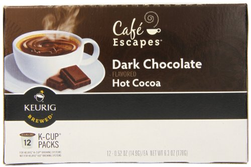 Cafe Escapes Dark Chocolate Hot Cocoa K Cups Calories
