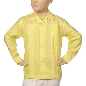 Irish linen yellow shirt for boys. Final sale