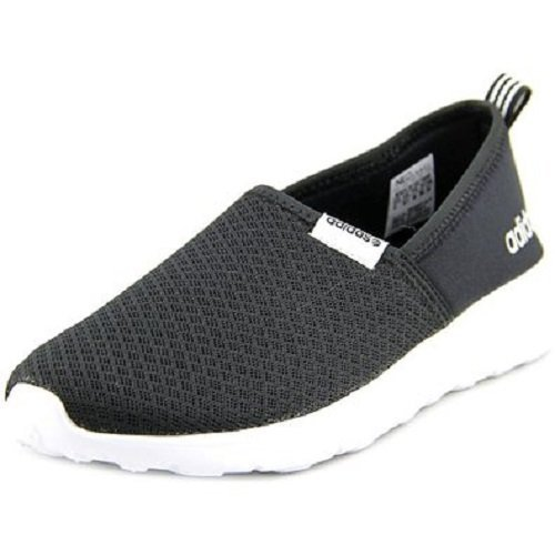 Adidas NEO Women's Lite Racer Slip On W Casual Sneaker,Black/Black/White,9.5 M US