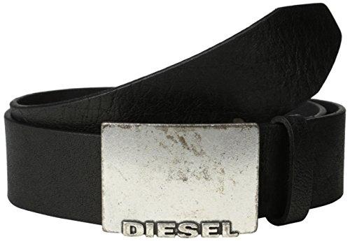 Diesel uomo gnaulm filmaronole Belt Beppizzo cintura in pelle cebbra squinzietta - Colore marrone, Nero, 85 cm