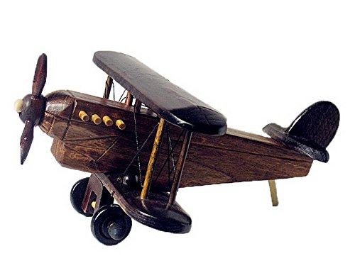 Handmade Wooden Airplane Model Wooden Crafts--D (About 21*20*10cm)
