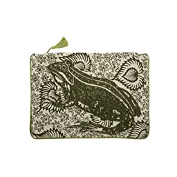 Leap Embroidered Pouch
