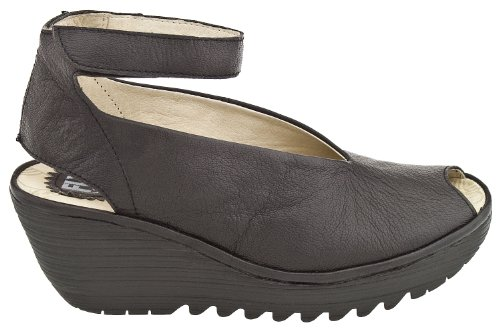 FLY London Women's Yala Wedge Pump, Black, 37 EU/6.5-7 M US