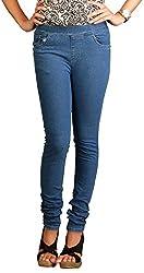 Fashion Stylus Women's Jeggings (FST-604-30, Blue, 30)