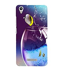 printtech Fish Glass Water Back Case Cover for Lava Pixel V1