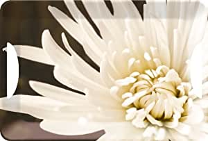 White Chrysanthemum Large Luxury Serving Tray by Creative Tops