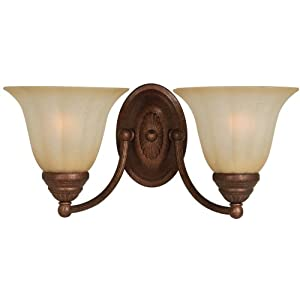 Hardware House 543686 Madrid 16-1/2-Inch by 7-Inch Bath/Wall Lighting Fixture Antique Bronze
