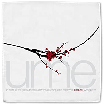 """Wrag Gear Handkerchief Collection: Ume (White fabric, Nominal size 17""""x17"""")"""