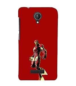 EPICCASE Ironman Mobile Back Case Cover For Micromax Canvas Spark Q380 (Designer Case)