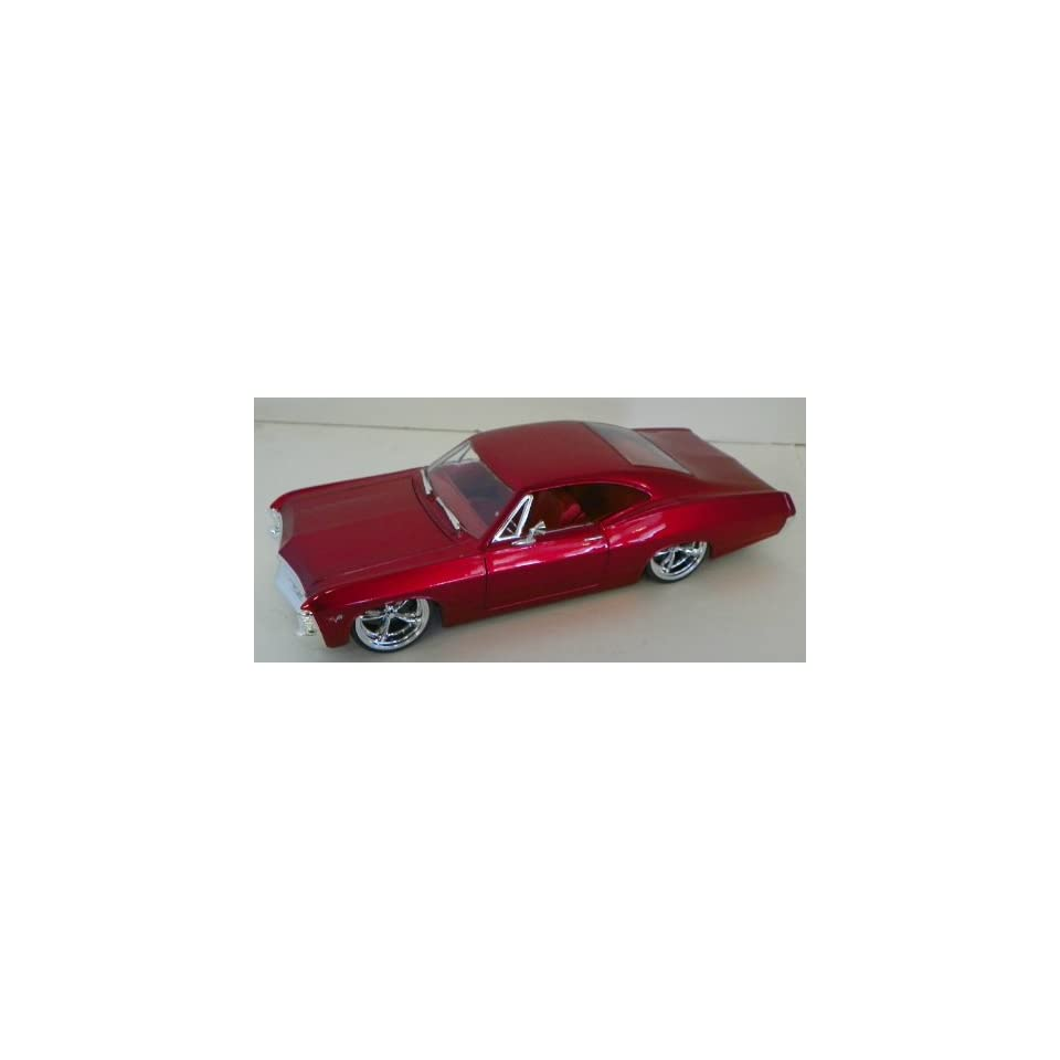 Jada Toys 1/24 Scale Diecast Big Time Muscle 1967 Chevy Impala Ss in Color Red