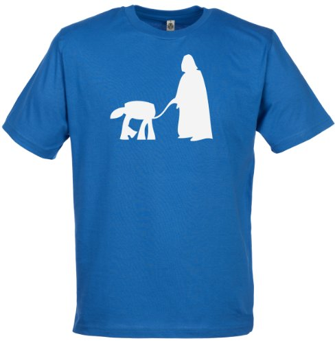 Walking The Dog Men's Novelty Funny T-Shirt